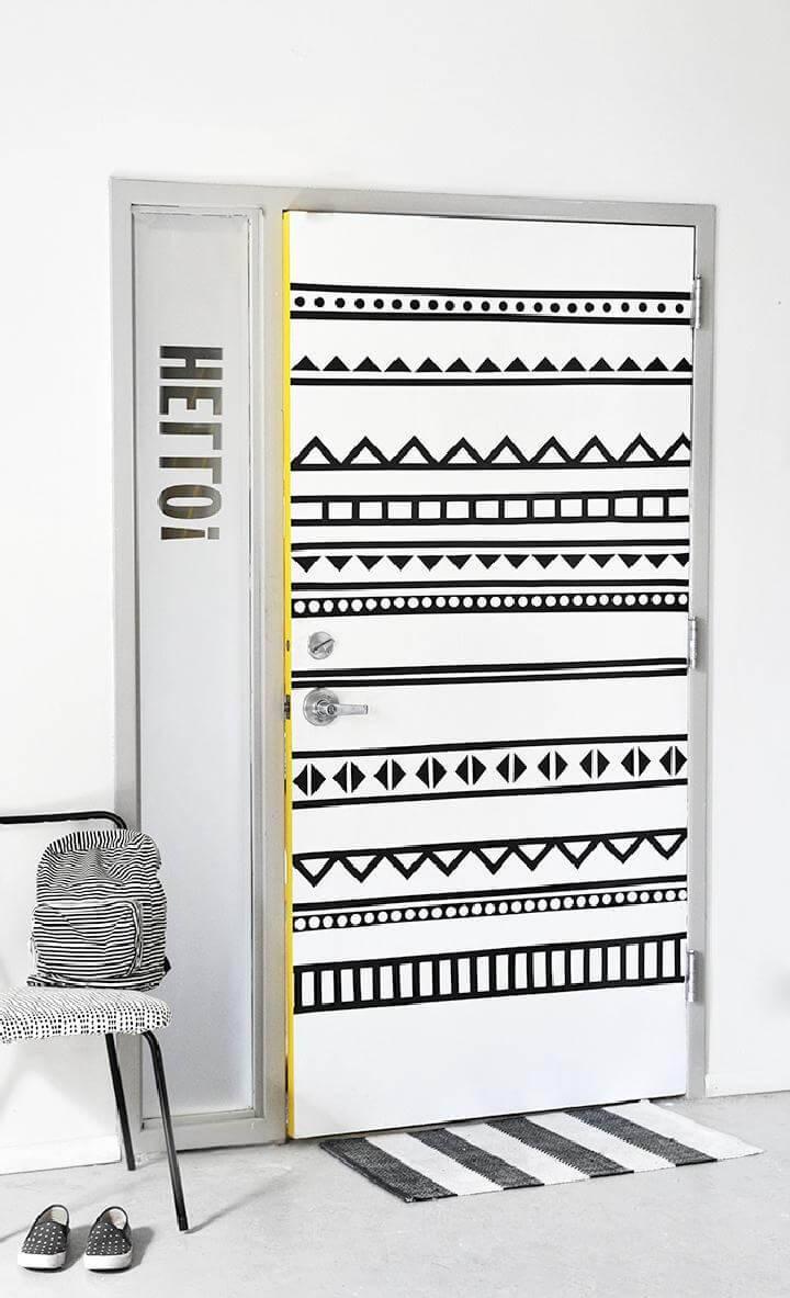 DIY Updated BW Graphic Door