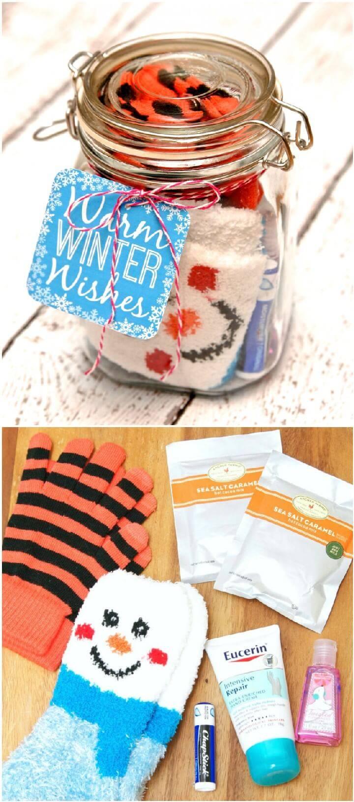 DIY Winter Survival Kit in Mason Jar Gift