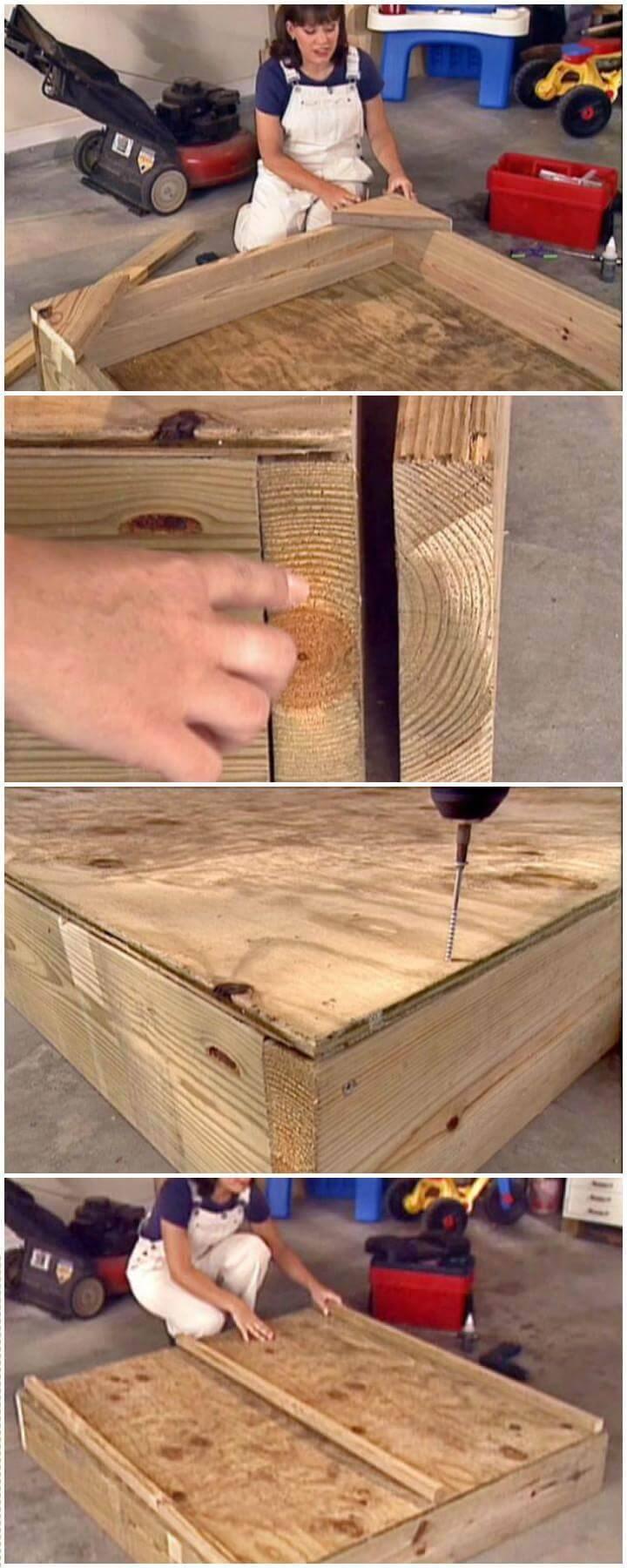 DIY Wooden Sandbox Step-by-Step