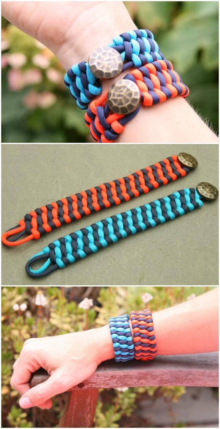 DIY Woven Cuff Bracelets