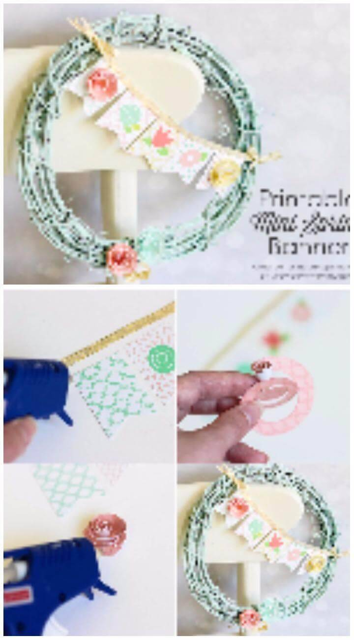 DIY Wreath with Mini Spring Banner