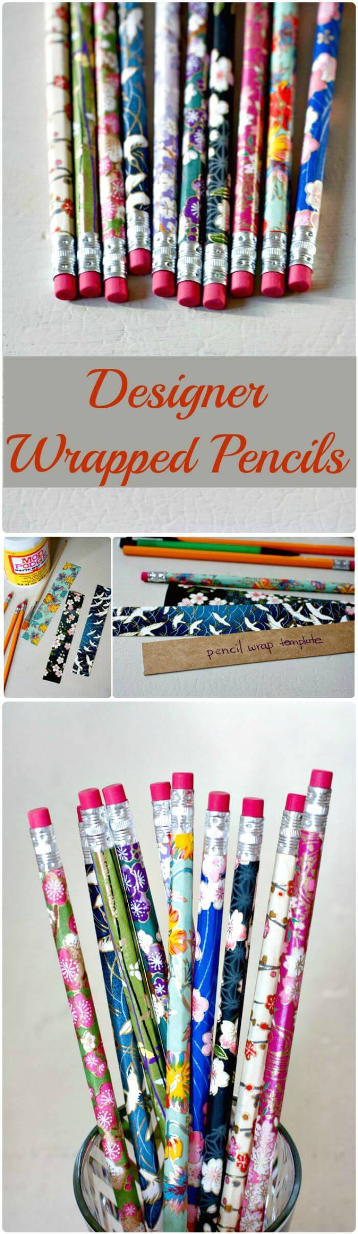 Designer Wrapped Pencils