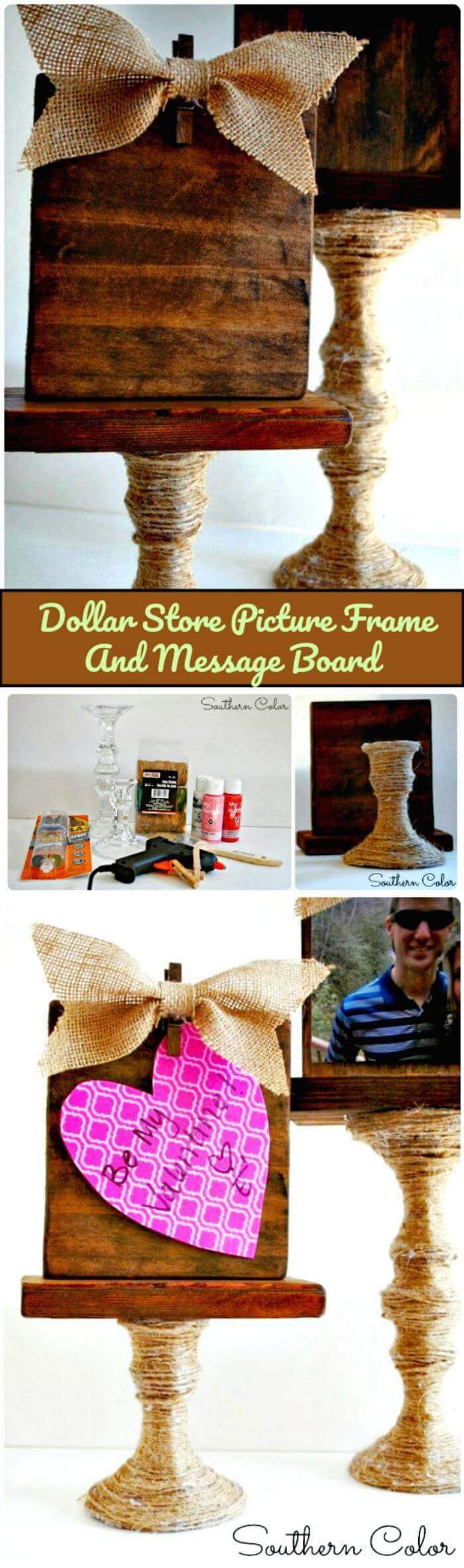 Dollar Store Picture Frame And Message Board