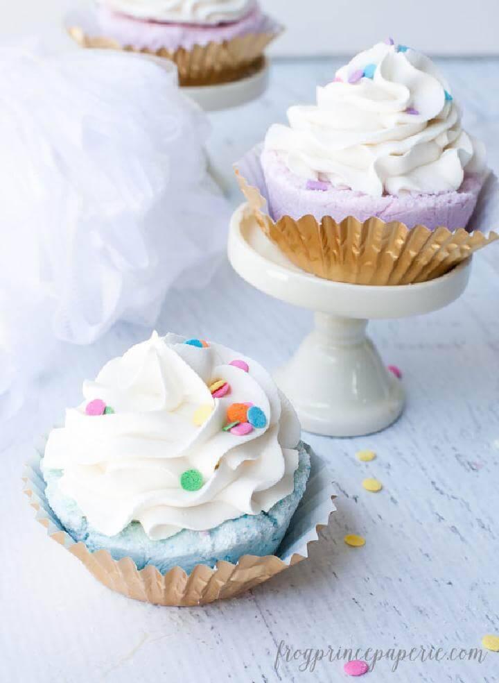 Easy Fizzy Cupcake Bath Bombs