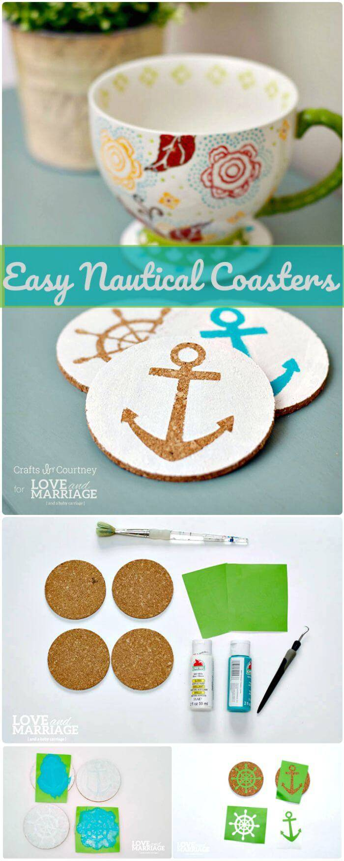 Easy Nautical Coasters