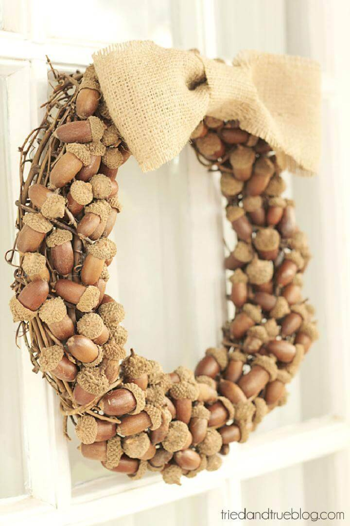 Gorgeous Natural Acorn Fall Wreath