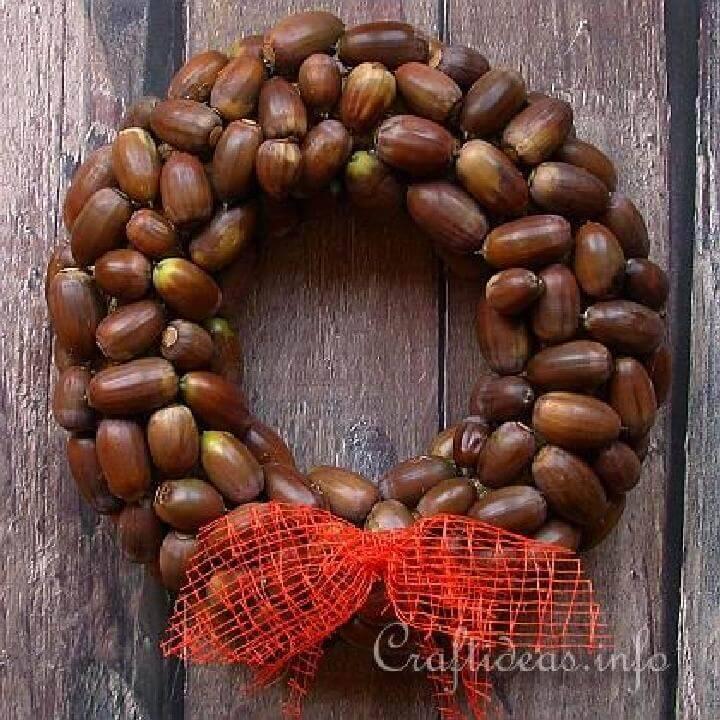 Handmade Beautiful Acorn Fall Wreath