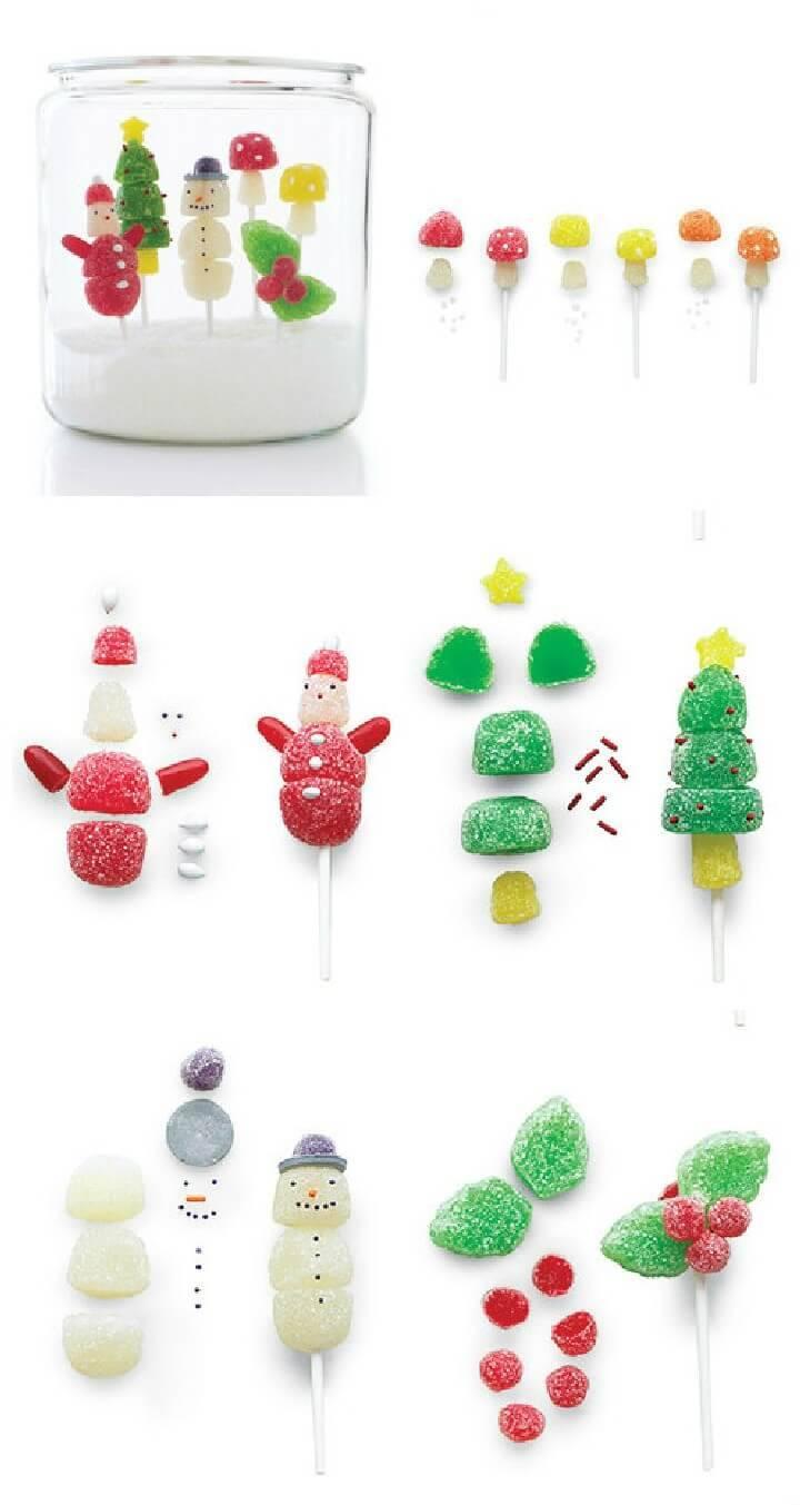 Holiday Gumdrop Pops - DIY Mason Jar Kids Gift Idea
