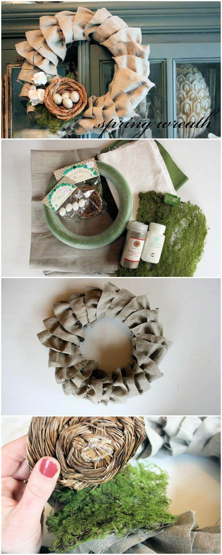 Homemade Fabric Spring Wreath