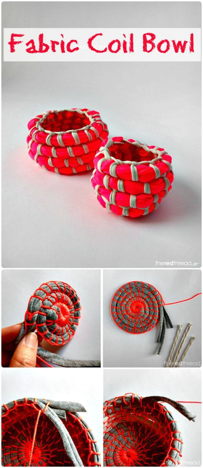 Make a Fabric Coil Bowl