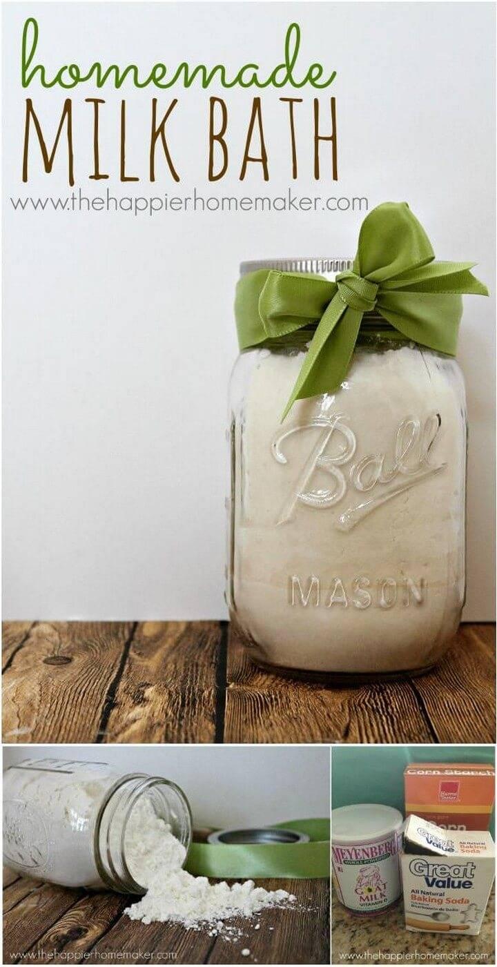 Milk Bath in a Jar - DIY Mason Jar Gift