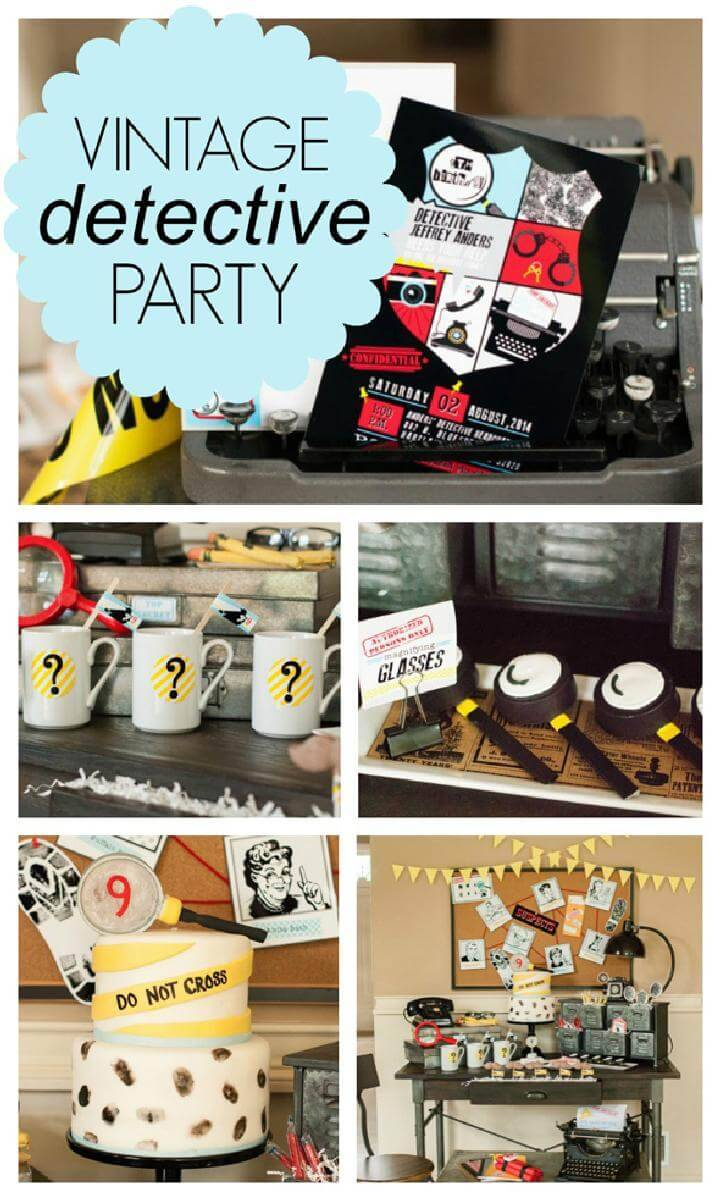 Outstanding Vintage Detective Teen or Tween Party Theme