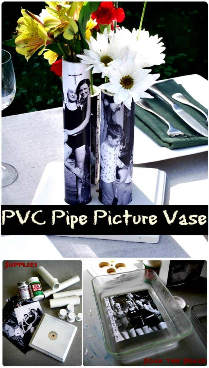 PVC Pipe Picture Vase