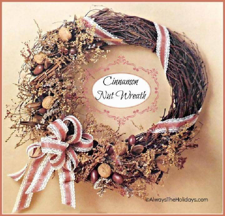 Precious Homemade Cinnamon Nut Wreath