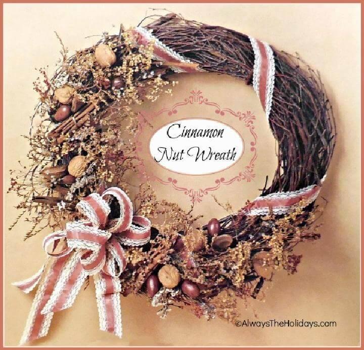 Precious Homemade Cinnamon Nut Wreath