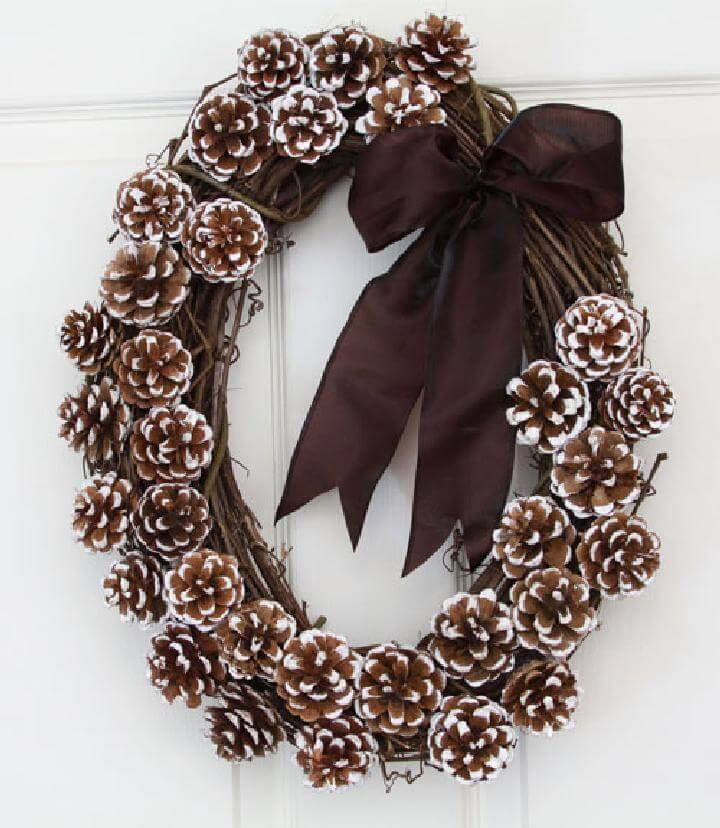 Self-Made Natural Pinecone Wreath