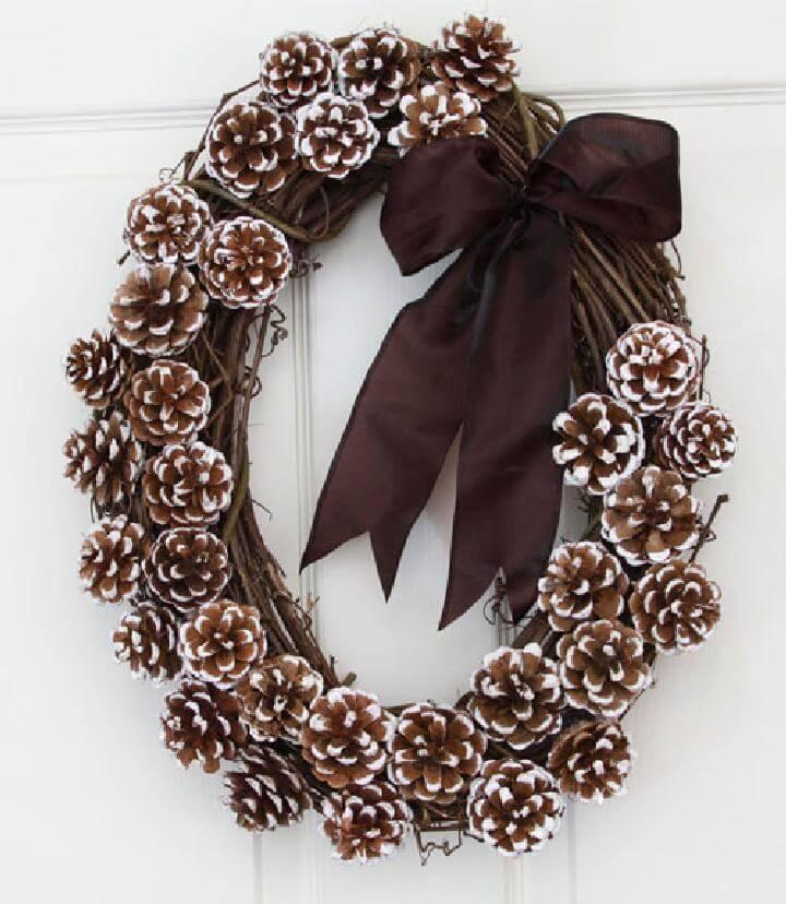 Self-Made Natural Pinecone Wreath