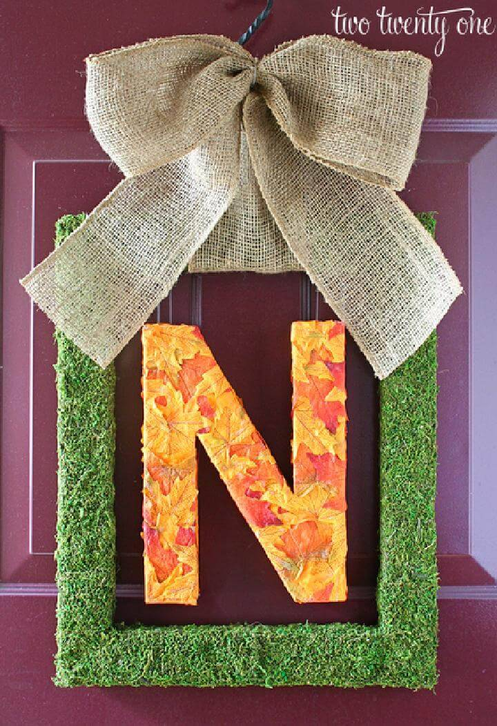 Stunning Fall Monogram Wreath