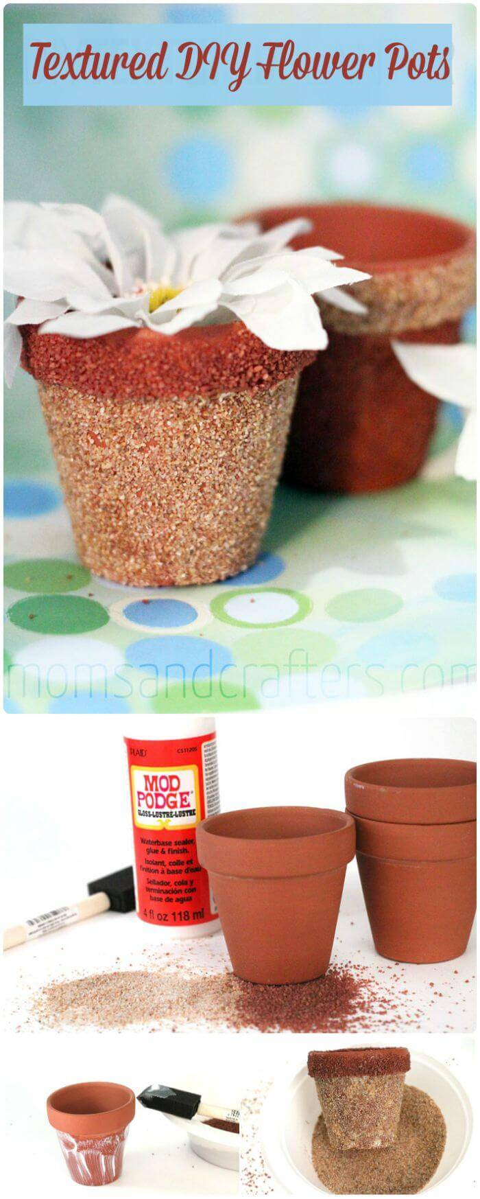 Textured DIY Flower Pots
