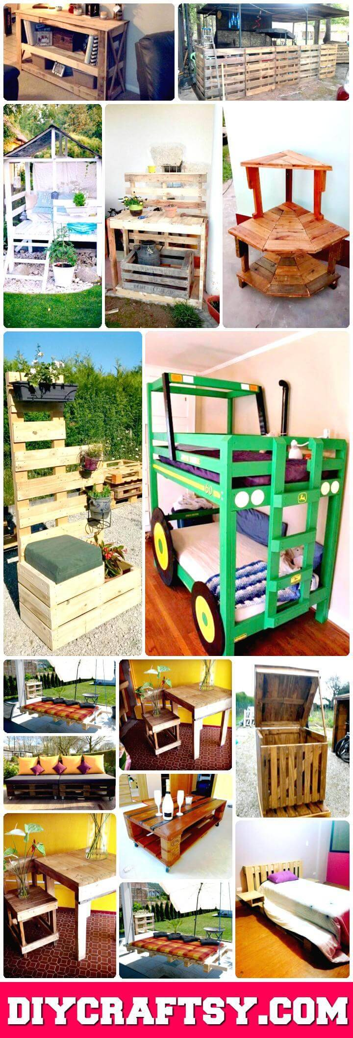 Pallet Ideas to DIY Furniture