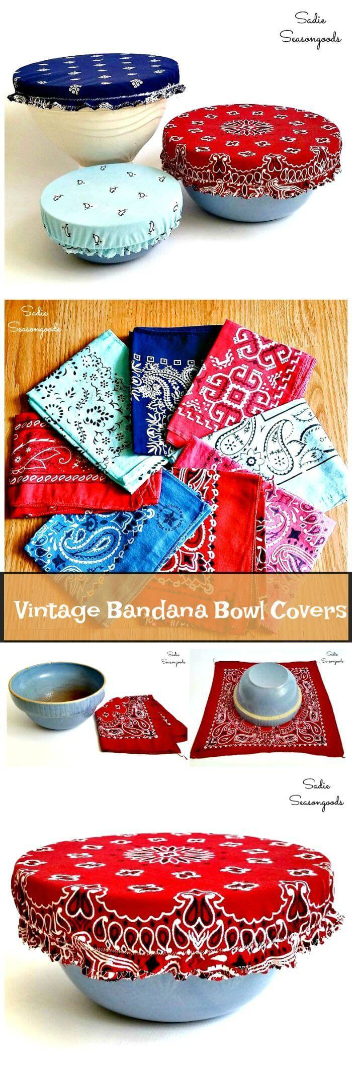 Vintage Bandana Bowl Covers