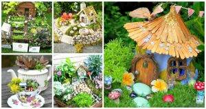 60 Best DIY Fairy Garden Ideas / Fairy Garden Houses