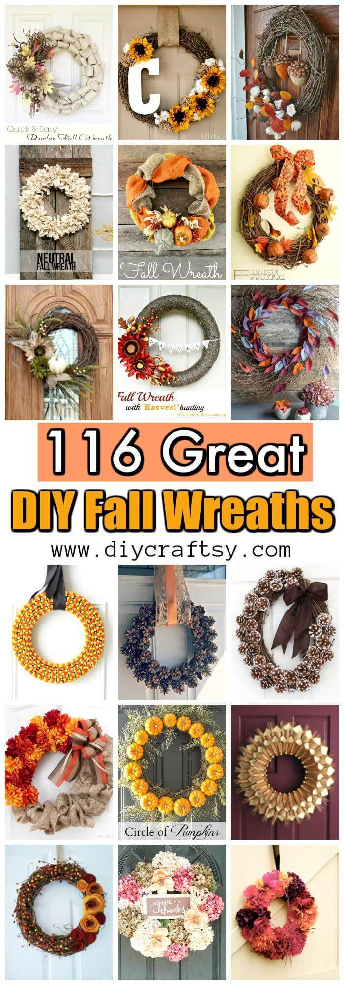 116 Great DIY Fall Wreaths - Wreath Ideas for Fall Decor - DIY ...