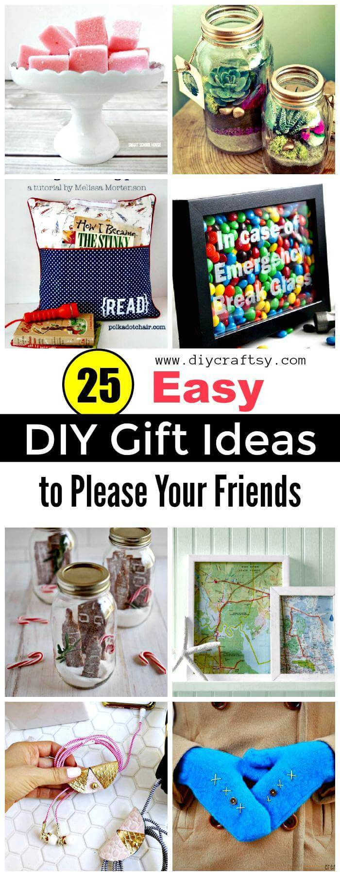 25 smart and easy diy gift ideas to please your friends diy crafts diy gift ideas negle Images