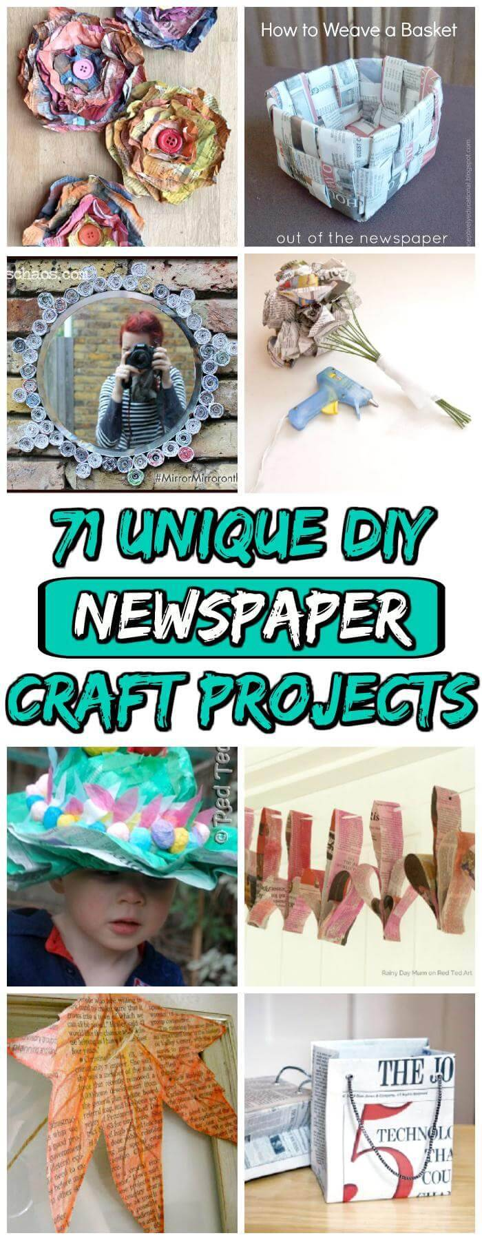 DIY Newspaper Craft Projects
