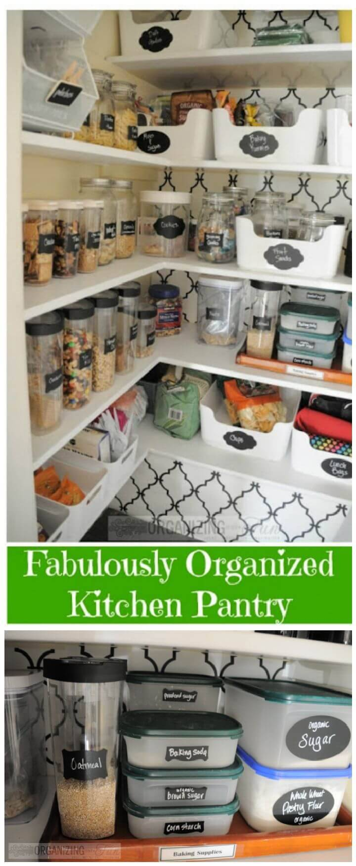 A Pantry Organized and All Prettied Up