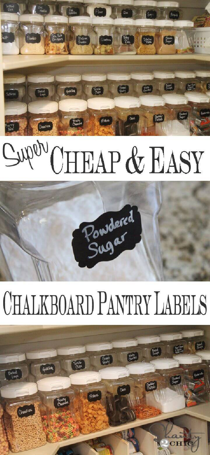 Chalkboard Labels for the Pantry