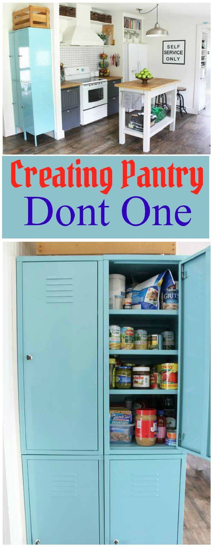 Creating Pantry Dont One