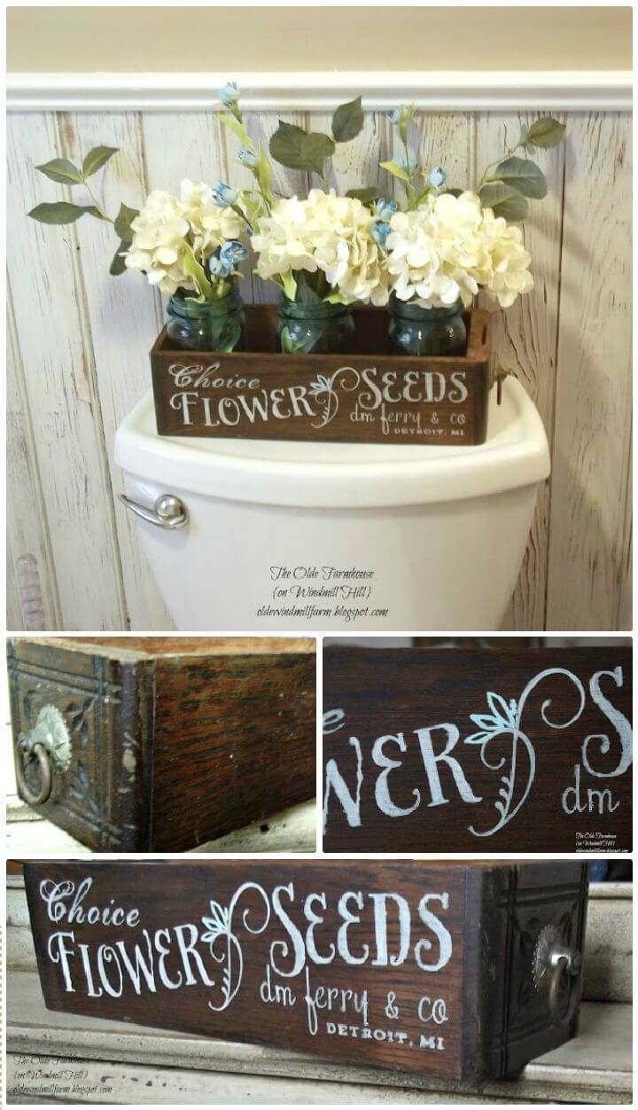 DIY Antique Sewing Drawer Turned Seed Box