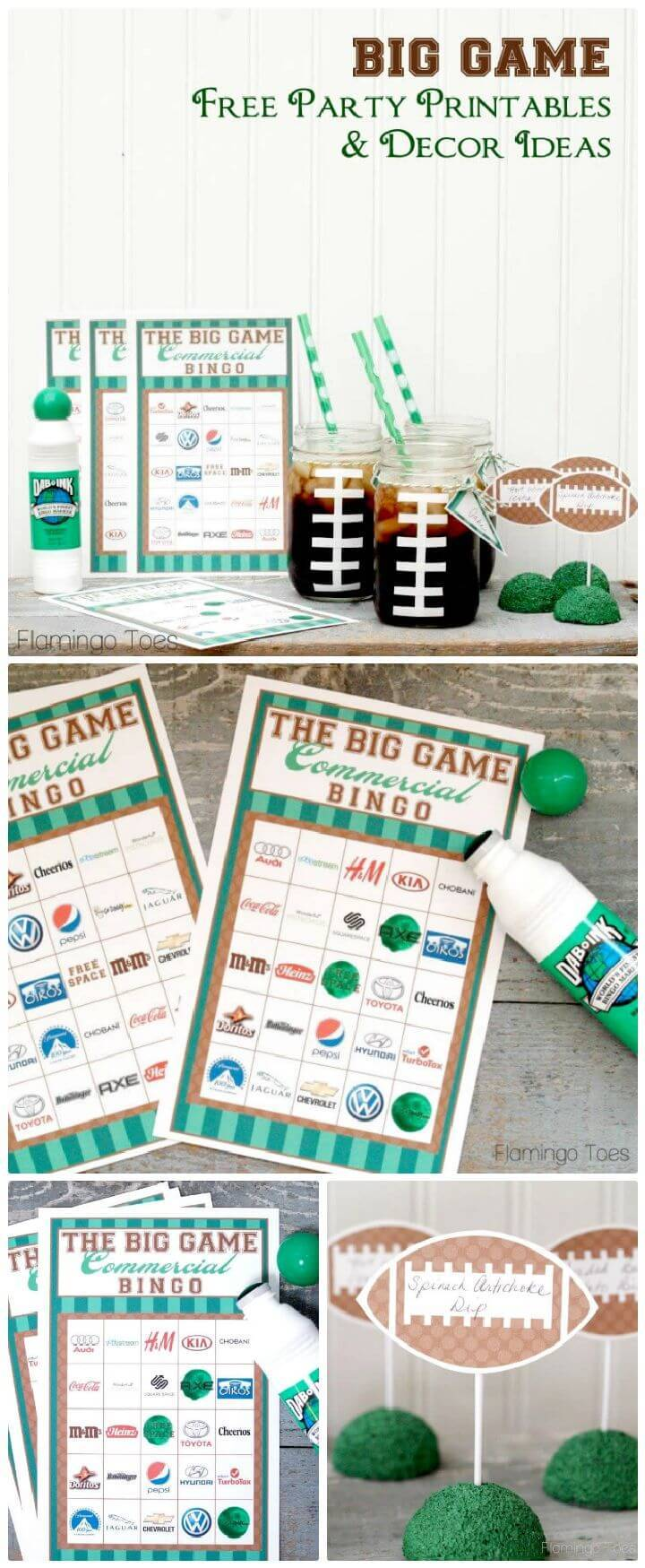 DIY Big Game Party Ideas By Using Mason Jar