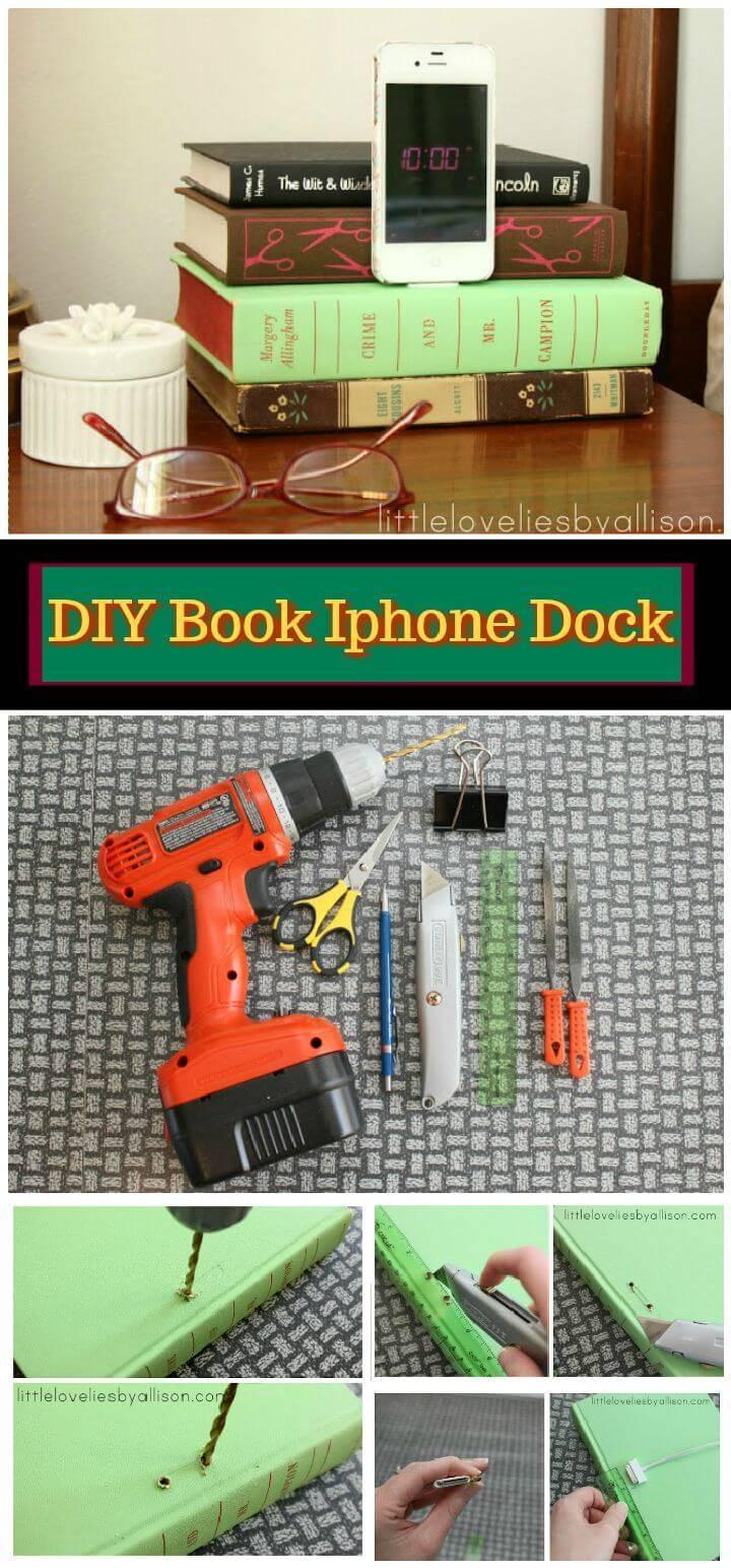 DIY Book Iphone Dock Tutorial