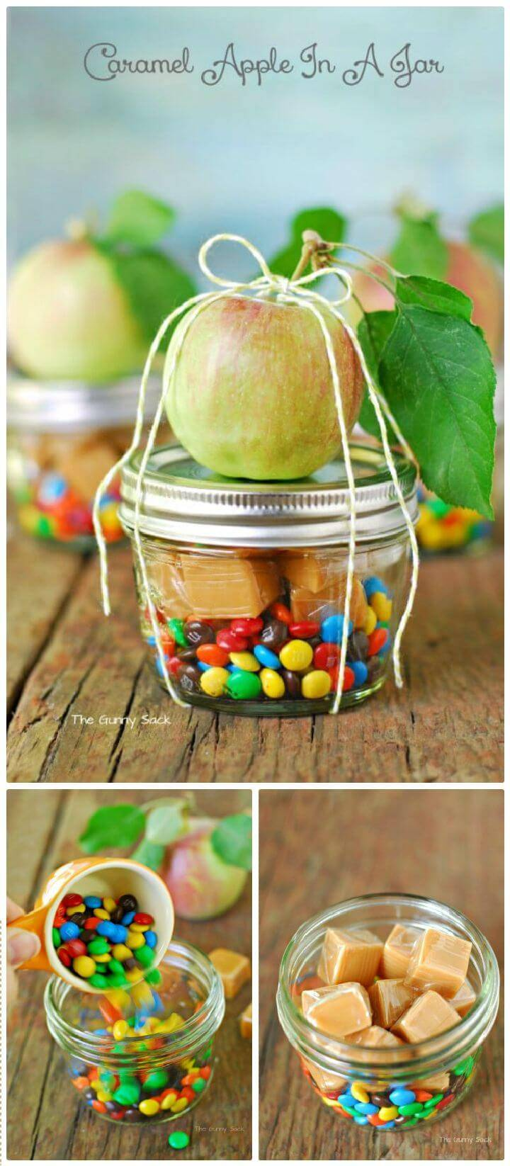DIY Caramel Apple In A Jar