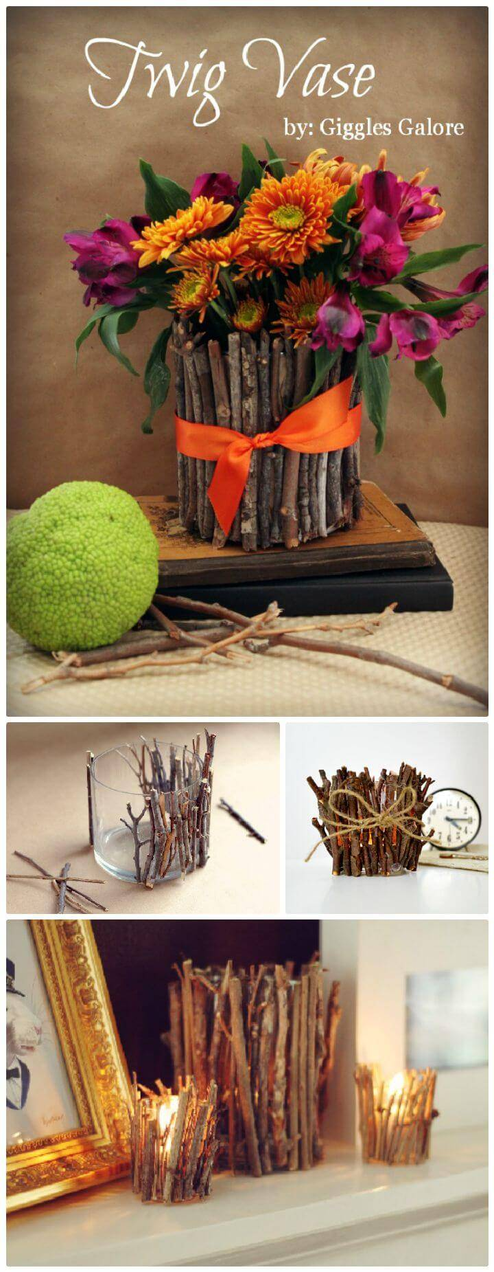 DIY Creatively Use Twigs In Home Décor