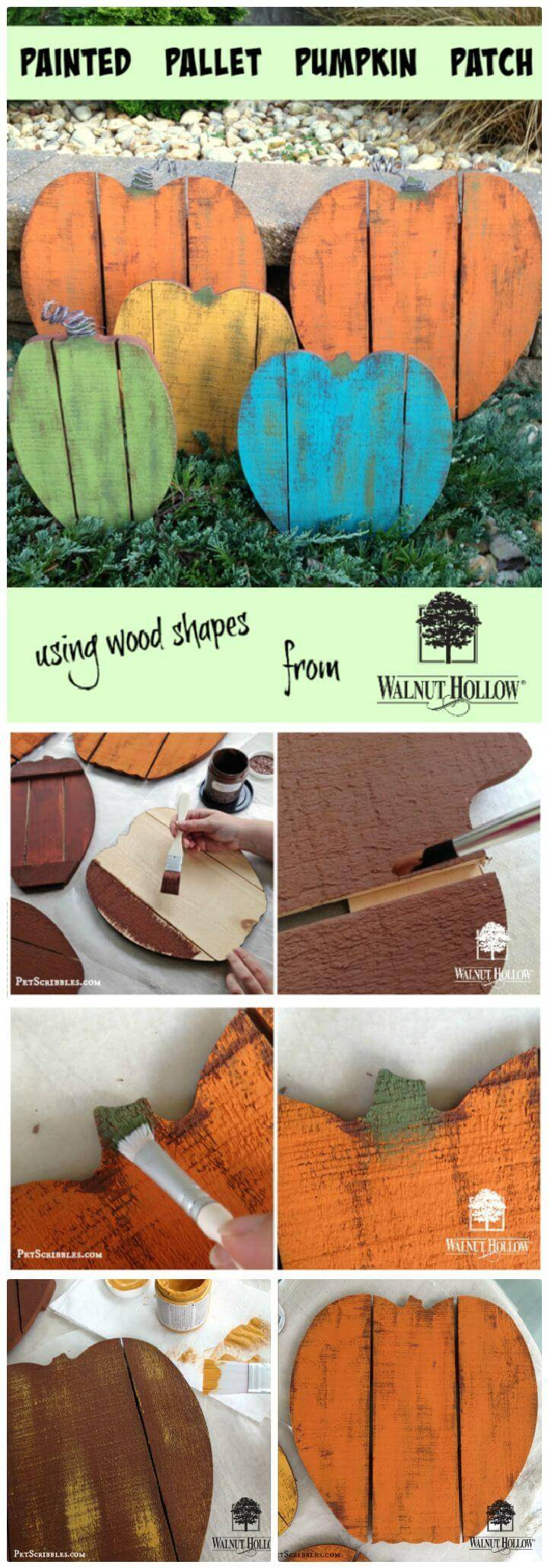 DIY Cutest Painted Pallet Wood Pumpkin Patch Ever