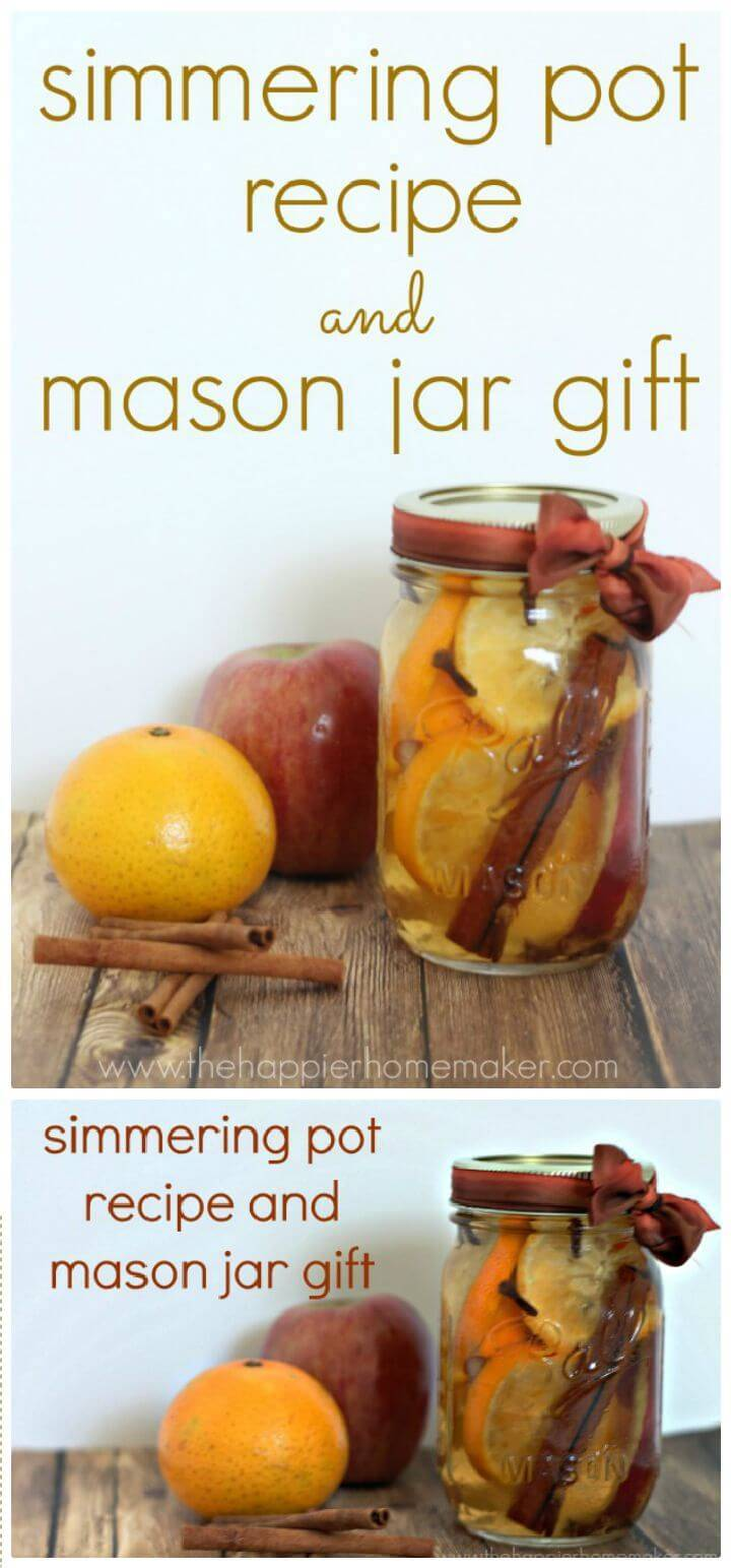 DIY Easy Simmering Pot Recipe And Mason Jar Gift