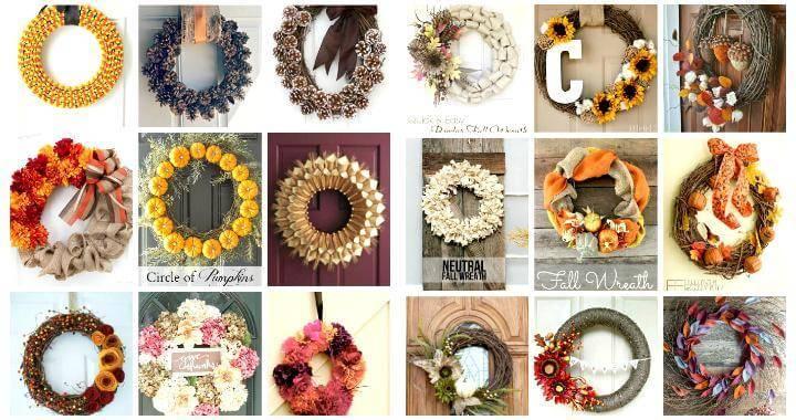 116 Great DIY Fall Wreaths – Wreath Ideas for Fall Decor