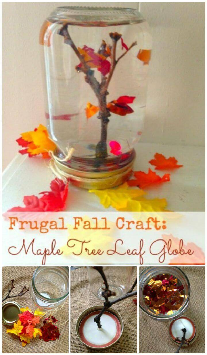 DIY Make A Maple Tree Leaf Globe