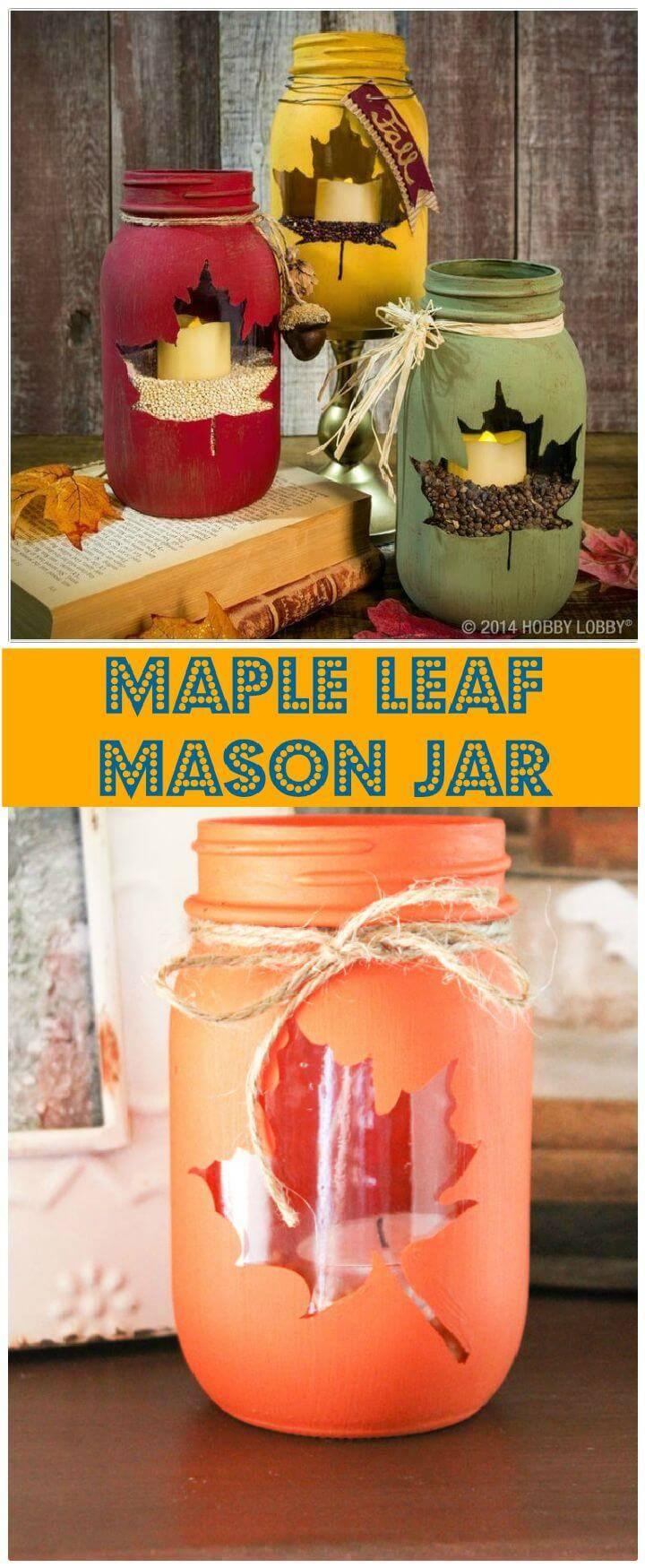 50 Unique DIY Mason Jar Crafts for Fall Decor - Page 3 of ...