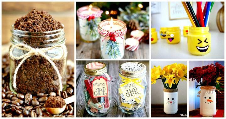 160+ DIY Mason Jar Crafts and Gift Ideas