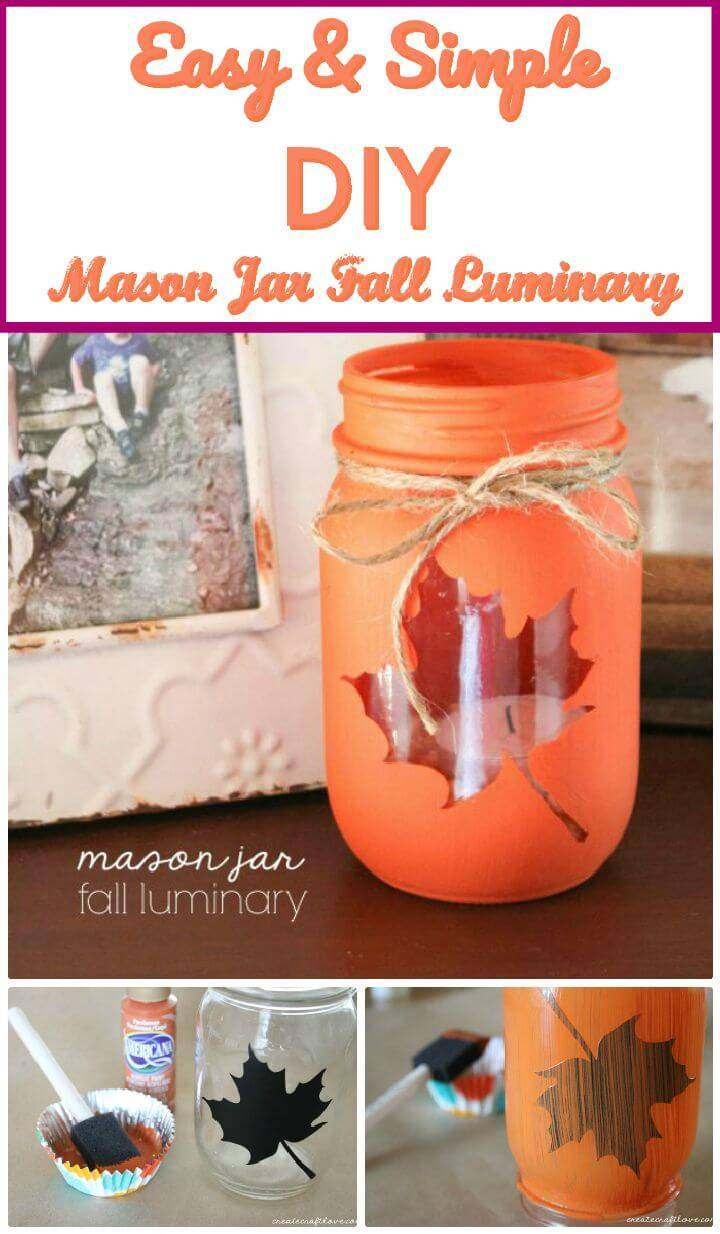 DIY Mason Jar Fall Luminary