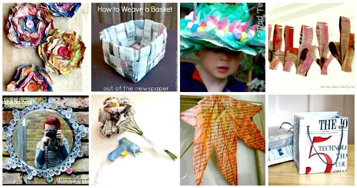 71 Unique DIY Newspaper Craft Projects