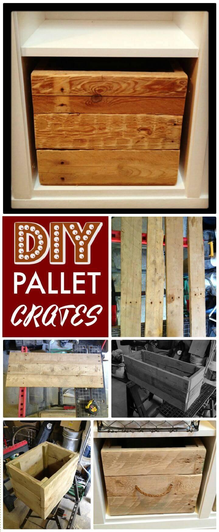DIY Pallet Crates