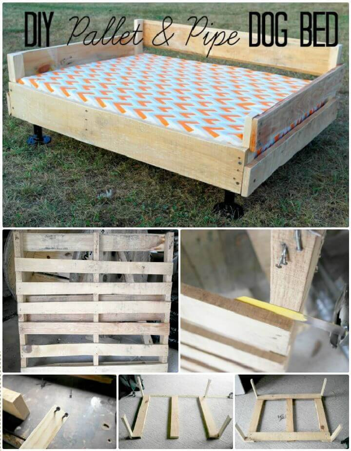DIY Pallet & Pipe Dog Bed Tutorial