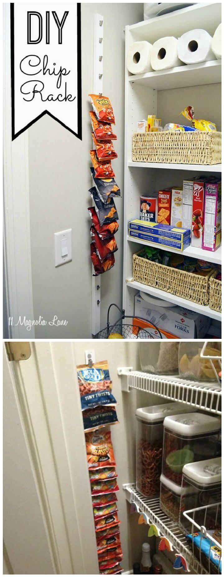DIY Pantry Chip Rack