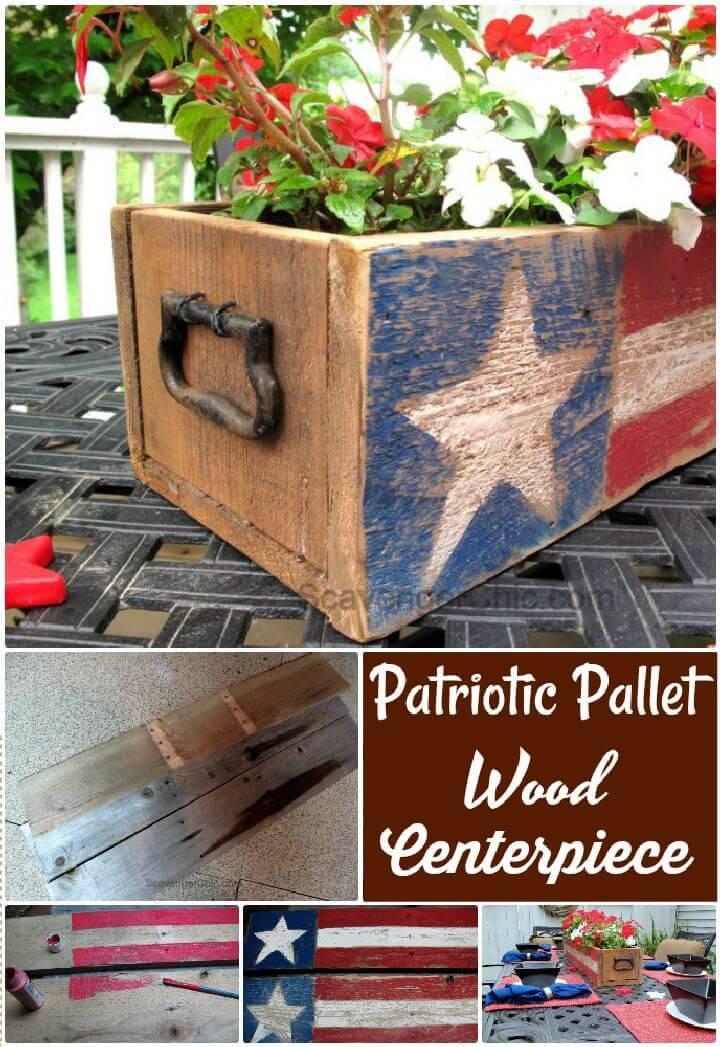 DIY Patriotic Pallet Wood Centerpiece