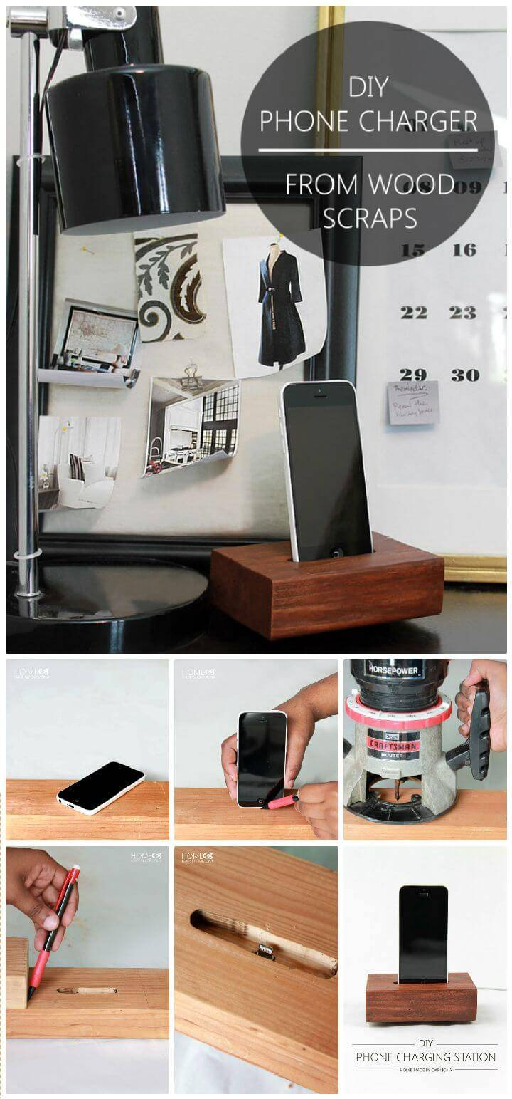 DIY Phone Charging Station From Scrap
